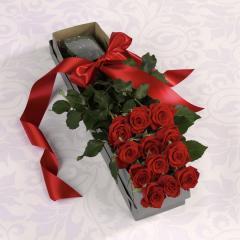 The Boxed Dozen Roses Bouquet #EV 104-11