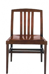 Side chair with partial slat back