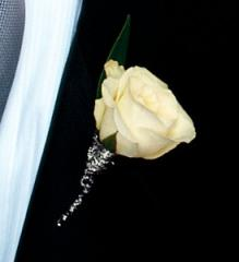 White Rose Boutonniere - by your local Big Rapids