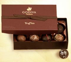 Godiva Truffle Assortment, 8 pc.