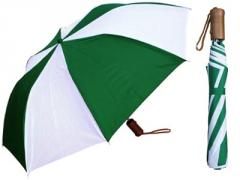 Deluxe Umbrella - Two-Tone Colors with Wood Handle