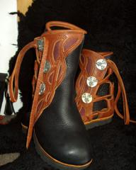 Custom created shoes and boots