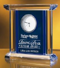 Blue/Clear Crystal Clock
