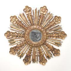 Bella Gold Leaf Starburst Mirror