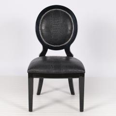 Black Oval Dining Chair