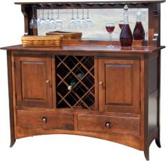 Shaker Hill Wood Wine Buffet