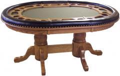 Dakota Double Pedestal Poker Table