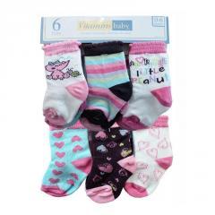 6-Pack Hearts Socks