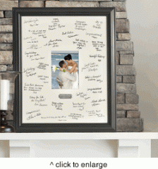 Personalized Wedding Wishes Signature Frame with