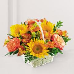 The FTD® Happy Blooms™ Basket C14-4143