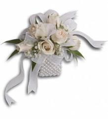 White Whisper Wristlet Flowers
