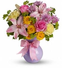 Teleflora's Perfectly Pastel Bouquet TEV13-5A