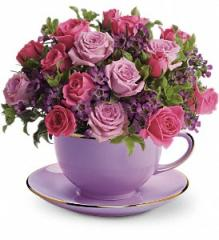 Teleflora's Cup of Roses Bouquet T210-2A