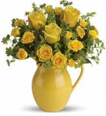 Teleflora's Sunny Day Pitcher of Roses T71-1A