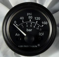 Electric (12 volt) Air Brake Pressure gauge