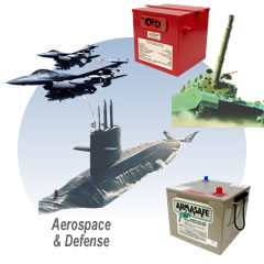 Batteries for aerospace and defense