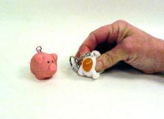 Animal poo keychain