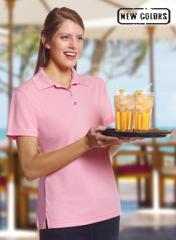 Women's Solid Mesh Polo