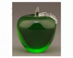 "14GG 3"" Green Optical Crystal Apple"