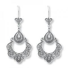Sterling Silver Antique Chandelier Earrings