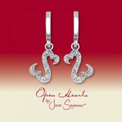 Open Hearts by Jane Seymour® Diamond Earrings