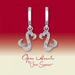 Open Hearts by Jane Seymour® Diamond Earrings
