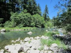 Mad River Acreage for Sale, Off Grid with Good Solar Potential  River & Creek Frontage, Minutes from Ruth Lake