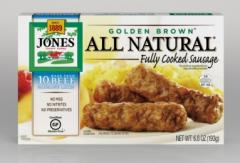 All Natural Golden Brown Made from Beef Sausage