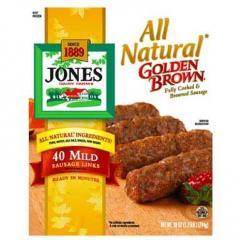 All Natural Golden Brown Mild Pork Sausage Links,