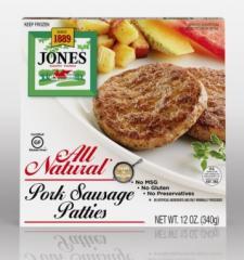 All Natural Pork Sausage, Patties, 12 oz.
