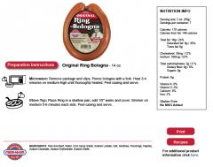 Ring Bologna Sausage