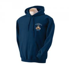 Polyester pullover hooded sweatshirt