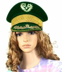Green Velvet Marching Band Hat