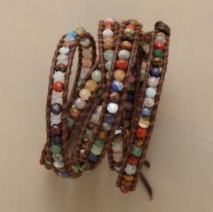 Gemstone 5 Wrap Bracelet