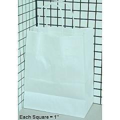 Kraft White Shopping Bag CUBW