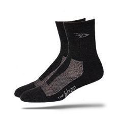 Blaze Charcoal Merino Wool Socks