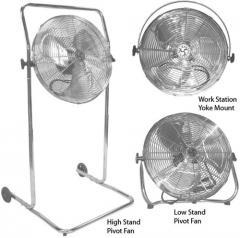 Industrial Air Circulators - 115V Pivot Stands