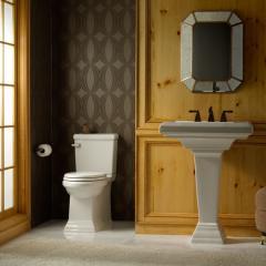 Town Square FloWise Conc Trapway RH El Toilet