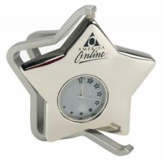 """Metal Star Clock (3 1/2""""X3 3/4"""")"""