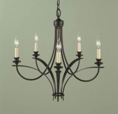 Five Light Bronze Up Chandelier
