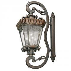 Five Light Bronze Wall Lantern