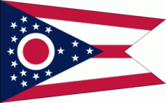 Ohio nylon flag