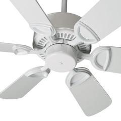 "QUORUM 43306-6 30"" White Estate Paddle Fan"