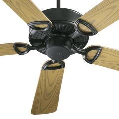 """52"""" Matte Black Patio Fan"""
