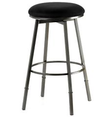 Sanders Adjustable Bar Stool - Black by Hillsdale