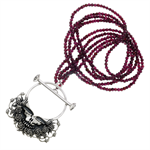 Sterling Silver Space Your Face Statement Necklace