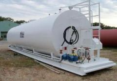 "20,000 gallon tank capacity chart - 120"""