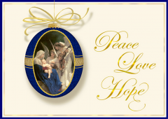 Peace Love Hope Christmas Cards