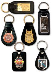 Leather Key Fobs with Custom Emblem