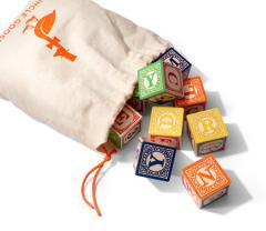 Classic ABC Blocks with Canvas Bag